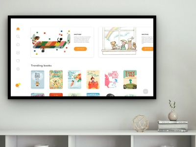 Daily UI Challenge    TV App childrens book children parenting stayathome storytelling book app parent kids kids app tvapp design app uiux ux ui application appdesign uxdesign uidesign dailyuichallenge