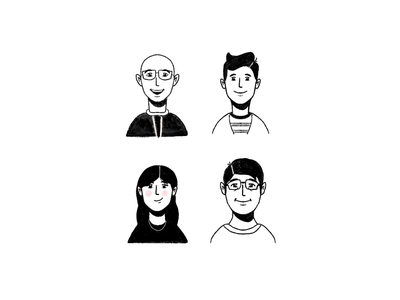 Colleagues procreate hand drawn illustration character design