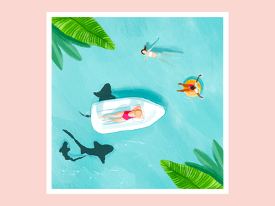 Tropical digitalart illustration procreate
