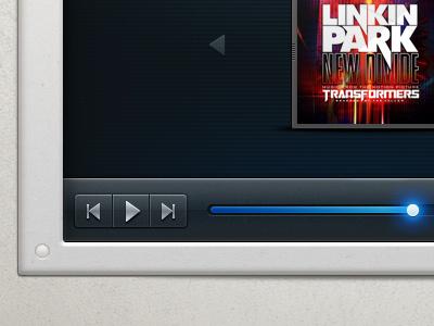 Music Player mounted on Wall player music interface tallman slider wall mp3 player