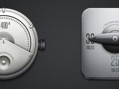 Icons—WIP tallman knobs machine metallic device grey icons metal