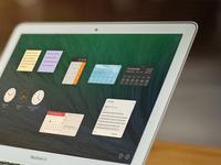 OSX Dashboard—Re-Imagined osx re-design dashboard widgets weather