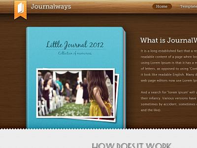 Journalways journal website book icon wood museo