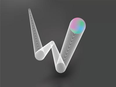 Doubleya w gradient mesh blend illustrator