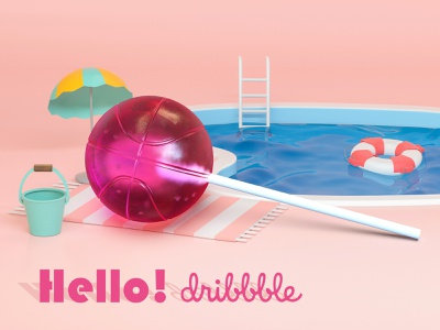 dribbble 3d photoshop lolipop dribbble