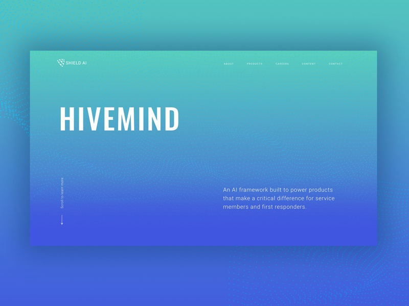 Hivemind Landing Page Concept illustrator website web typography ui vector design branding