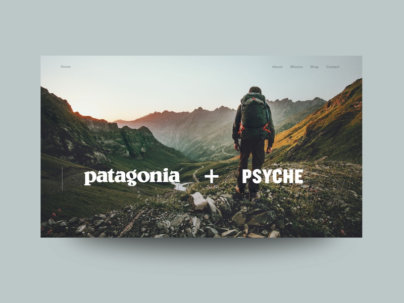 Patagonia and Psyche NASA Mission Collab Concept illustrator website web ui ux design branding