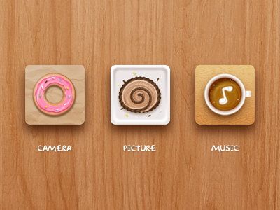 dessert camera picture music coffee donut cake
