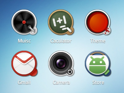 QQ music caculator theme gmail camera store