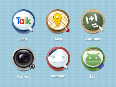QROUND V2 gtalk map caculator camera message store