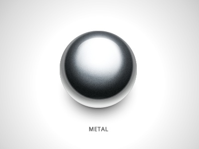Metal metal ball icon