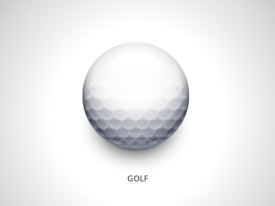 Golf golf ball icon
