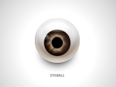 Eyeball eyeball ball icon