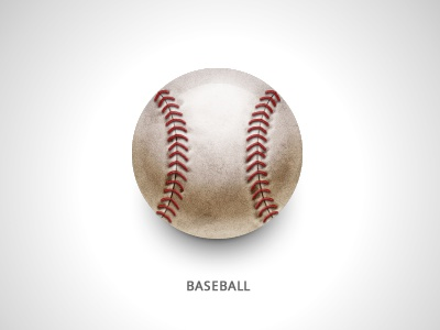 Baseball baseball ball icon