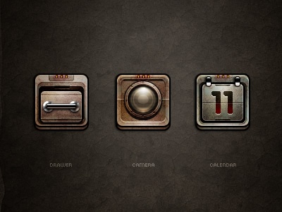 3602 drawer camera calendar icon 360