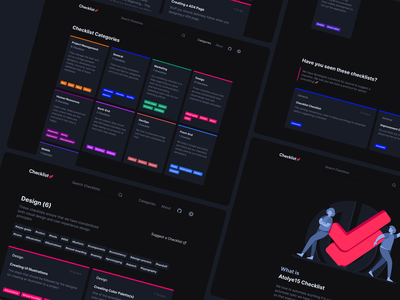 Introducing Checklist: A Team Knowledge Tool side-project open-source project illustration dark mode design checklist