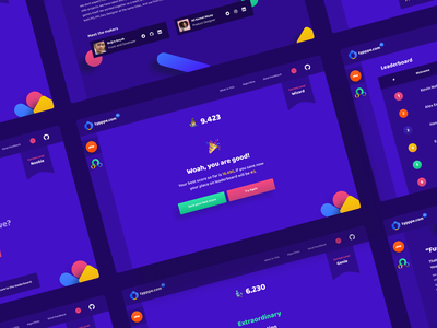 Typppe: A fun little typing game! funny goofy colorful typing side project game ui design uiux app ui app ux web design web app ui design