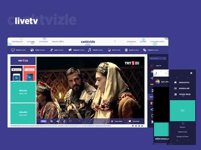 Live TV - Web and Mobile UI