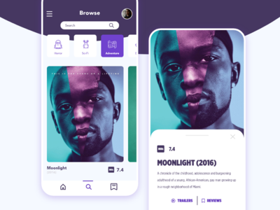 Movie Suggestion App Concept Design