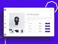 Price Comparison Web UI Design