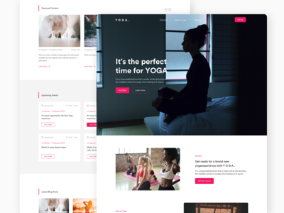 YOGA Landing Page Concept