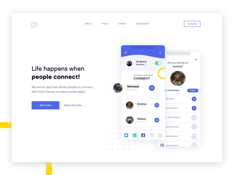 Landing Page Hero UI Design