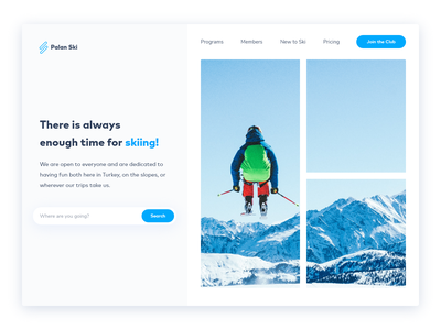 Palan Ski - Hero Exploration web ui webdesign hero section hero uidesign ui design uxdesign uiux ui