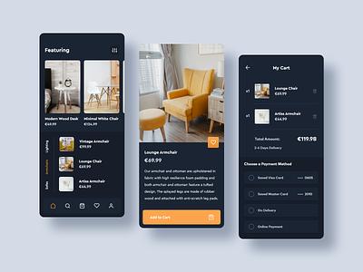 Exclusive Furniture Store Concept App ui app design app concept uiux mobile ui mobile app app ux app ui clean furniture store furniture