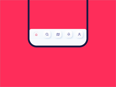 Skeuomorphic Tab Bar soft ui soft navbar navigation bar navigation mobile app app ux clean animation after effects tab bar animation interaction animation interaction skeuomorphic ui neumorphic skeuomorphic skeuomorph tab tab bar animation