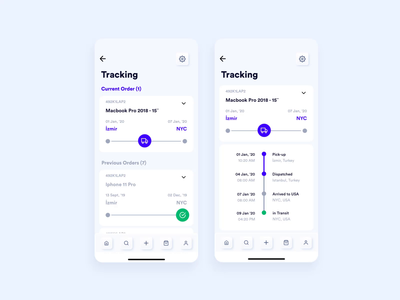 Tracking Screens of E-Commerce App