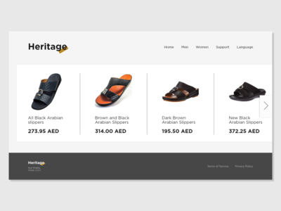 E-commerce Website (Concept) traditional slippers arab shop shoe fashion black arabic e-commerce website e-commerce design e-commerce shop e-commerce slipper heritage adobe xd adobexd flat design ux ui
