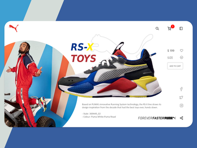 Puma Sneaker Preview shopping webdesign sneakers puma adobexd uidesign uiux