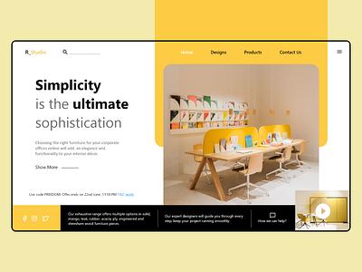 Corporate Interior Design Web furniture website corporate branding interior adobexd uiuxdesign webdesign uidesign