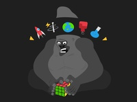 Mad gorilla scientist