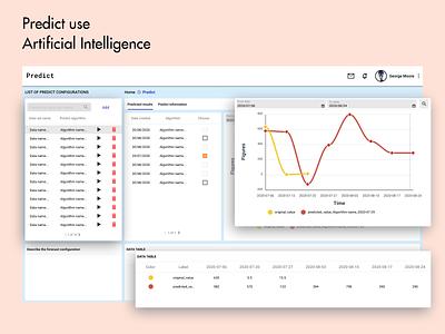 Predict data analysis dashboard ux ui artificial intelligence