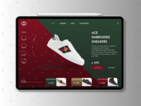 Gucci Sneakers Landing Page ui dailyui user interface avrdesigns web design branding design user experience daily ui brand design