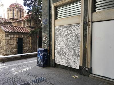 Doodling in Athens illustration art streetart street art graffiti illustrations illustrator doodling design doodle creature creative illustration blackandwhite character