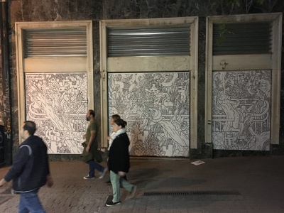Street art doodles in Athens creative streetart street art illustrator doodle doodling creature blackandwhite illustration character