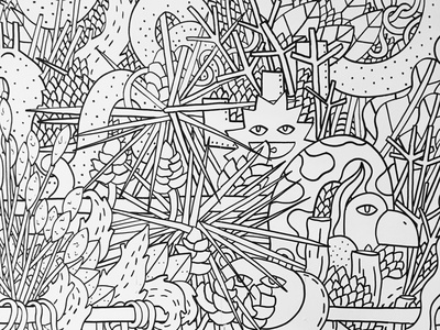 Street art doodles in Athens creative street art streetart illustrator doodling doodle creature blackandwhite illustration character