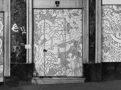 Athens street doodles shot street art creature illustrator streetart doodling creative doodle illustration blackandwhite character