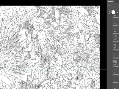 [process] draw paper black improvisation fabric doodles nature animals fashion design pattern design patterns pattern illustrator doodling doodle blackandwhite creative illustration character