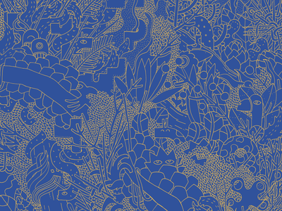 Fabric patterns clothes sdeviano fabric fashion flowers jungle lineart line plants character illustrator doodling doodle illustration pattern