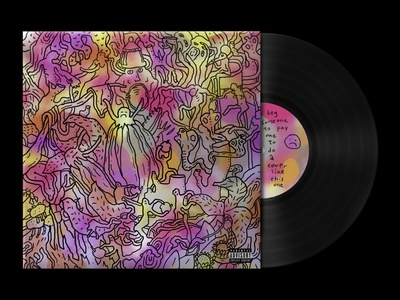[I beg someone to pay me to do a cover like this one] surrealistic dali nature sdeviano cover art sketch creative pattern cover design disc lp drawing concept character colorful doodling doodle illustration cover