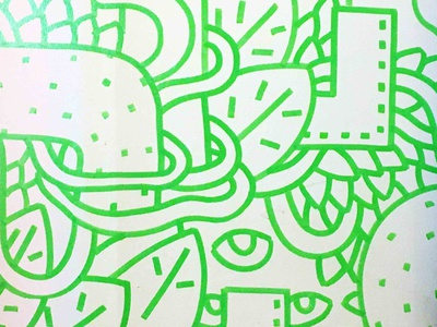 Marker Detail graffiti street art doodleaday dribbble illustrator lines doodleart girafe dog onecolour fashion pattern line sdeviano leaves nature doodles doodle doodling illustration