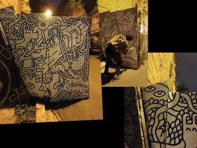 Filling the city with nature duotone street vibes marker freehand plants animals muralart mural street artist 2colour sdeviano graffiti pattern street art nature creative character doodling doodle illustration