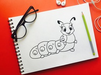 Caterpillar Outline Drawing