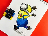 Minions in Oil Pastel Shading