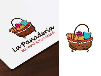 La Panaderia Backerei logo flat web graphic design typography icon logos logodesign backery drawing illustration branding outline art vector ui
