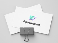 Appommerce minimal ux typography cart design logo icon vector illustration branding ui
