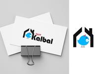 Kalabal Logo bird typography flat art logo icon vector illustration branding ui
